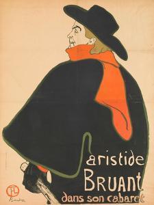 Aristide Bruant in His Cabaret, 1893 by Henri de Toulouse-Lautrec
