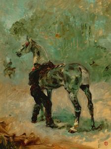 Artilleryman Saddling His Horse, 1878 or 1881 by Henri de Toulouse-Lautrec