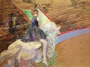 At the Circus Fernando, Rider on a White Horse, 1888 by Henri de Toulouse-Lautrec