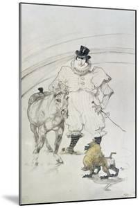 At the Circus: Trained Pony and Baboon, 1899 by Henri de Toulouse-Lautrec