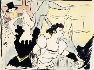At the Masked Ball-Parisian Festivities-New Revels, 1892 by Henri de Toulouse-Lautrec