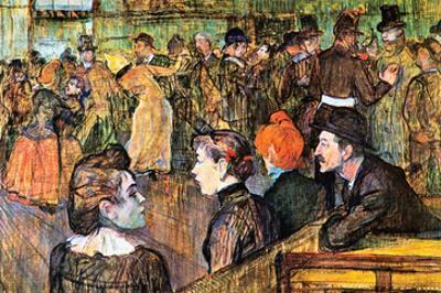 At the Moulin De La Gallette