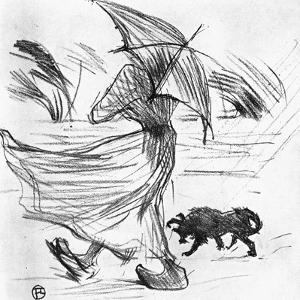Ce Que Dit La Pluie, 1895 by Henri de Toulouse-Lautrec