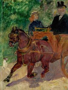 Cob Harnessed to a Cart, 1900 by Henri de Toulouse-Lautrec