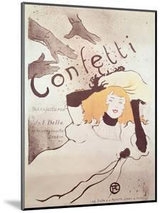 Confetti, 1893 by Henri de Toulouse-Lautrec