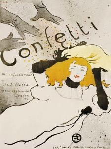 Confetti by Henri de Toulouse-Lautrec
