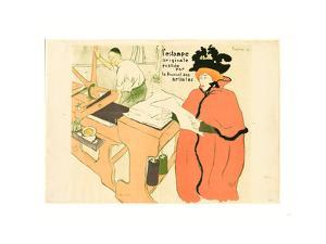 Cover for L'Estampe Originale (Couverture De L'Estampe Originale) by Henri de Toulouse-Lautrec
