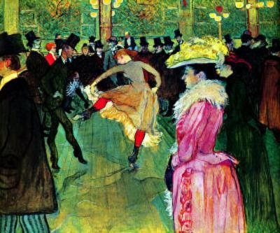 Dance at Moulin Rouge by Henri de Toulouse-Lautrec