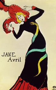 Dancer Jane Avril, Poster by Henri de Toulouse-Lautrec
