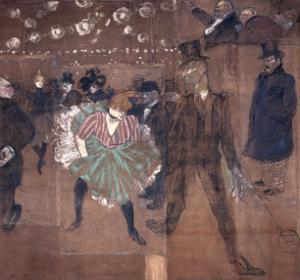 Dancing at the Moulin Rouge: La Goulue and Valentin Le Desosse 1895 by Henri de Toulouse-Lautrec