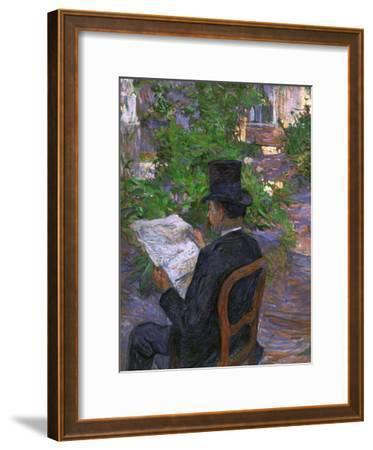 Desire Dihau (Reading a Newspaper in the Garden), 1890