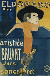 Eldorado, Aristide Bruant, 1892 by Henri de Toulouse-Lautrec