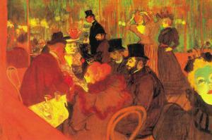 In The Moulin Rouge by Henri de Toulouse-Lautrec