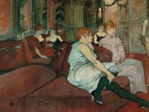 In the Salon at Rue Des Moulins, 1894 by Henri de Toulouse-Lautrec