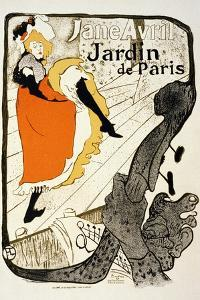 Jane Avril at the Jardin De Paris, 1893 by Henri de Toulouse-Lautrec