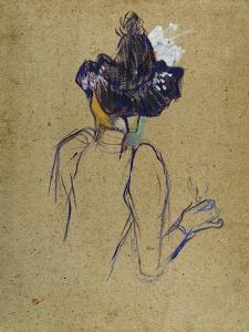 Jane Avril, Back-View, circa 1891-1892 by Henri de Toulouse-Lautrec