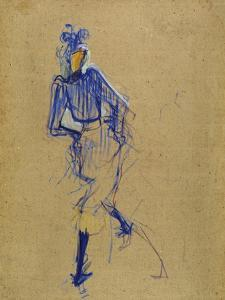 Jane Avril Dancing, circa 1891-1892 by Henri de Toulouse-Lautrec
