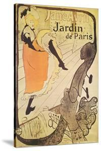 Jane Avril in Jardin de Paris by Henri de Toulouse-Lautrec