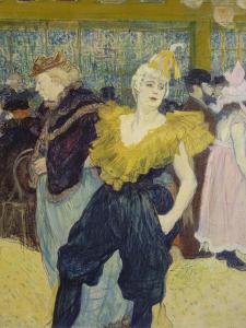 La Clownesse, 1895 by Henri de Toulouse-Lautrec