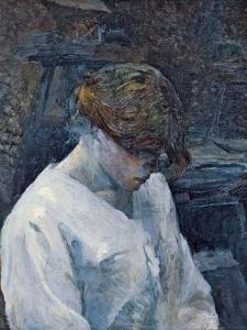 La Rousse in a White Blouse, 1889 by Henri de Toulouse-Lautrec