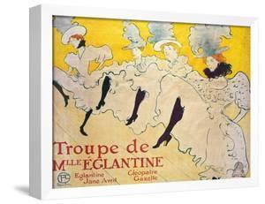 La Troupe De Mlle. Eglantine by Henri de Toulouse-Lautrec