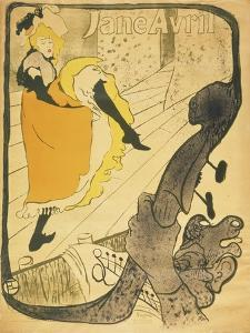Lithograph Jane Avril, 1893 by Henri de Toulouse-Lautrec