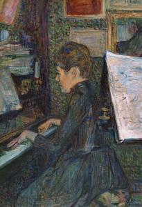 Mademoiselle, Dihau at the Piano, 1890 by Henri de Toulouse-Lautrec