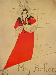 May Belfort, 1895 by Henri de Toulouse-Lautrec