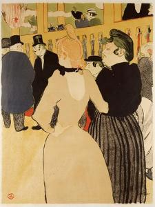 Moulin Rouge (La Goulue Et La Mome Fromage) by Henri de Toulouse-Lautrec