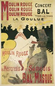 Moulin Rouge, La Goulue by Henri de Toulouse-Lautrec