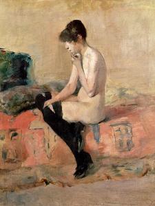 Nude Woman Seated on a Divan, 1881 by Henri de Toulouse-Lautrec