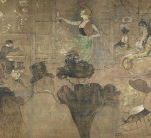 Panneau pour la baraque de la Goulue, à la Foire du Trône à Paris by Henri de Toulouse-Lautrec