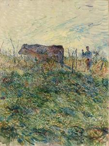 Ploughing in the Vineyard, 1883 by Henri de Toulouse-Lautrec