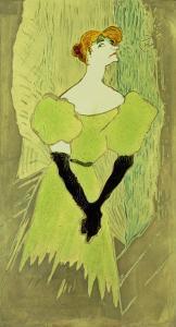 Portrait of Yvette Guilbert by Henri de Toulouse-Lautrec