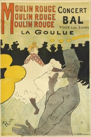 Poster Advertising 'La Goulue' at the Moulin Rouge, 1891