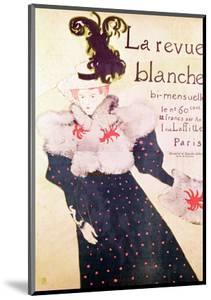 """Poster Advertising """"La Revue Blanche"""", 1895 by Henri de Toulouse-Lautrec"""
