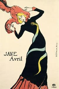 Poster for Jane Avril, 1899 by Henri de Toulouse-Lautrec