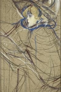 Profile of Woman: Jane Avril; Profil De Femme: Jane Avril, 1893 by Henri de Toulouse-Lautrec