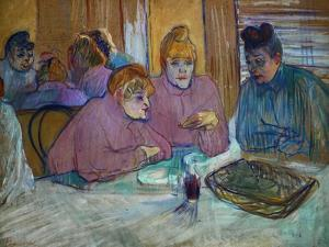 Prostitutes Around a Dinner Table, 1893 by Henri de Toulouse-Lautrec