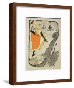 """Reproduction of a Poster Advertising """"Jane Avril"""" at the Jardin De Paris, 1893 by Henri de Toulouse-Lautrec"""