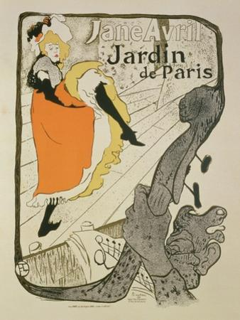 """Reproduction of a Poster Advertising """"Jane Avril"""" at the Jardin De Paris, 1893"""