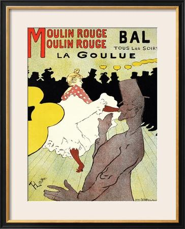 "Reproduction of a Poster Advertising ""La Goulue"" at the Moulin Rouge, Paris"
