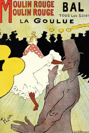 """Reproduction of a Poster Advertising """"La Goulue"""" at the Moulin Rouge, Paris"""