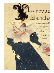 """Reproduction of a Poster Advertising """"La Revue Blanche"""", 1895 by Henri de Toulouse-Lautrec"""
