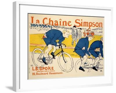 Reproduction of a Poster Advertising 'The Simpson Chain', Paris, 1896