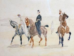 Riders, 1880S by Henri de Toulouse-Lautrec