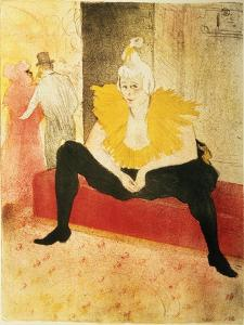 Seated Female Clown, Mlle. Cha-U-Kao, 1896 by Henri de Toulouse-Lautrec