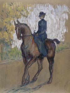 Side-Saddle by Henri de Toulouse-Lautrec