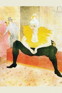 Sitting Clown by Henri de Toulouse-Lautrec
