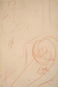 Sketch of Jane Avril by Henri de Toulouse-Lautrec